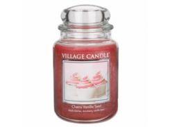 Свеча Village Candle Вишнево-Ванильный Вихрь 740г (время горения до 170 часов)