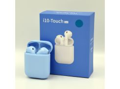 Беспроводные Bluetooth наушники HBQ i10 Touch TWS V5.0 Blue (592307) (TW18592307)