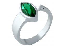 Серебряное кольцо Silver Breeze с изумрудом nano 18.5 размер (1957547)