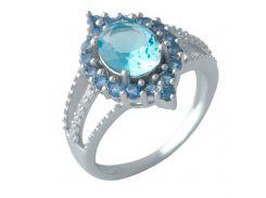 Серебряное кольцо Silver Breeze с аквамарином nano 17 размер (1994559)