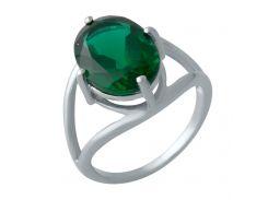 Серебряное кольцо Silver Breeze с изумрудом nano 18 размер (2012900)