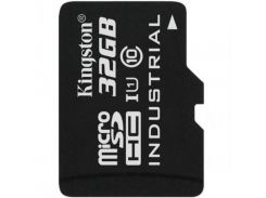 Карта памяти KINGSTON 32 GB microSDHC Class 10 UHS-I Industrial + SD Adapter (SDCIT/32GB)