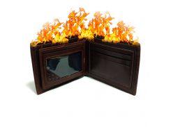 Фокус Горящий кошелек Flaming Wallet Kronos Toys Коричневый (krut_0823)