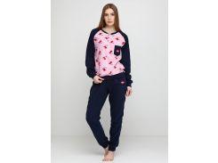 Пижама (штаны, кофта) Lee Cooper L Розовый, Темно-синий (DI66930651942)