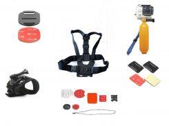 Набор аксессуаров для экшн-камер ZAQ GP001 (GP-001)