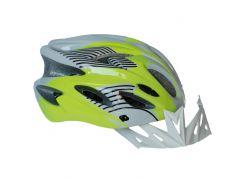 Велосипедный шлем NB FT-09-13 56-62 см Салатовый с серым (80840246)