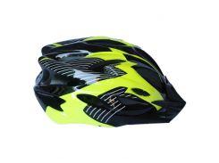 Велосипедный шлем NB FT-09-15 56-62 см Черный с желтым (80840247)