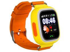 Детские часы с GPS Smart Baby Watch Q90S Оранжевые (nri-2217)
