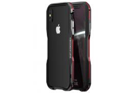 Бампер Luphie Ultra Luxury для iPhone X/Xs Black/Red
