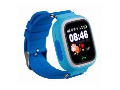 Детские смарт-часы с GPS Smart Baby Watch 100 (Q90) Голубые (tdx0000281)