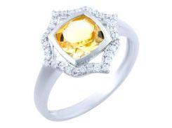 Серебряное кольцо Silver Breeze с натуральным цитрином 17 размер (1824054)