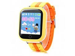 Детские смарт-часы Smart Baby Watch Q100 с GPS трекером Yellow(in-100)