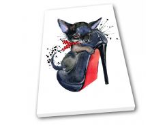 Картина на холсте Kronos Top Мода Котенок в туфельке 80 х 120 см (lfp_382893382_80120)