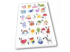 Картина на холсте в детскую Kronos Top Веселая Азбука 80 х 120 см (lfp_434849632_80120)