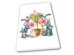 Картина на холсте в детскую Kronos Top Милые Зайки 80 х 120 см (lfp_361171988_80120)