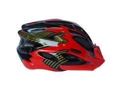 Велосипедный шлем универсальный FT-09-6 L 56-62 Черный с красным (80840240)