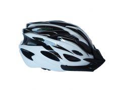 Велосипедный шлем NB FT-09-11 56-62 см Черный с белым (80840244)