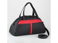 Спортивная сумка Черная с красным (Ssport_black-red_fly)