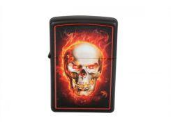Зажигалка Zippo Lighter Burning Skill Black Matte (28307)