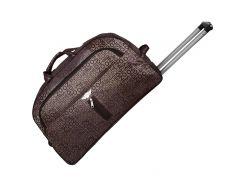 Дорожная сумка BagHouse 60 х 34 х 32 см Бежевый с фиолетовым (ксЛ009вкор)
