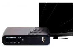Комплект цифрового ТВ World Vision T62D + Комнатная антенна ARU-01