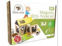 Эко-конструктор на магнитах Zevs-toys Farm 95 деталей (400328)