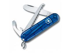 Складной детский нож Victorinox My First 84 мм полупрозрачный Синий (0.2373.Т2)
