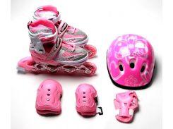 Набор роликовые коньки Happy 29-33 Pink (1396442256-S)