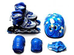 Набор роликовые коньки Happy 34-37 Blue (979210876-M)