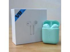Беспроводные Bluetooth наушники  v8 TWS  green (1043) (TW181043)