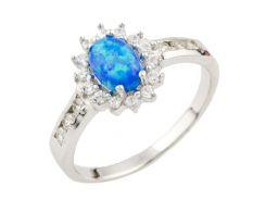 Серебряное кольцо Silver Breeze с опалом 17.5 размер (1088210)