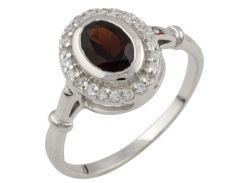Серебряное кольцо Silver Breeze с натуральным гранатом 16.5 размер (1052181)