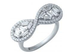 Серебряное кольцо Silver Breeze с фианитами 17 размер (1908952)