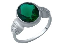 Серебряное кольцо Silver Breeze с изумрудом nano 18.5 размер (1932445)