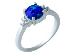 Серебряное кольцо Silver Breeze с опалом 18 размер (1919774-18)