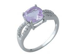 Серебряное кольцо Silver Breeze с натуральным аметистом 18 размер (1969977-18)