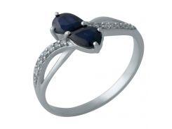 Серебряное кольцо Silver Breeze с натуральным сапфиром 17 размер (2008996)