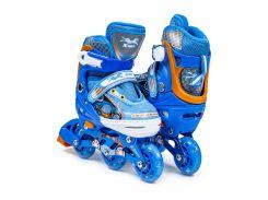 Ролики 3-wheels 27-30 Синий (472768029)