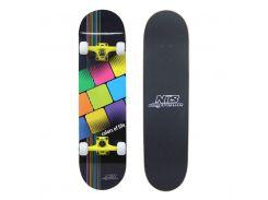 Скейтборд Nils Extreme CR3108SB Colors of Life (CR3108SB-CL)
