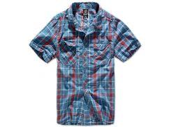 Рубашка Brandit Roadstar L Голубой с красным (4012.42)