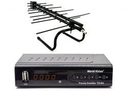 Комплект цифрового ТВ World Vision Foros Combo + Комнатная антенна Eurosky ES-00