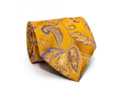 Галстук ZAGI с цветами золотистый ZN-1836