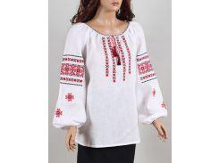 Блуза женская вышиванка Колос 52 Ромашка червона  (3010/152) (2-3010/152)