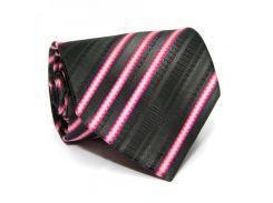 Галстук ZAGI черный в розовую полоску ZN-1853