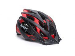 Шолом велосипедний OnRide 55-58 см Cross M Чорний / червоний (69078900016 )