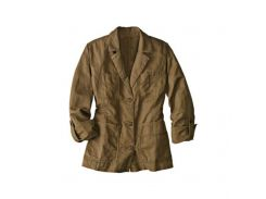 Куртка Eddie Bauer Womens Jacket Linen BROWN L Светло-коричневый (7114375BR)