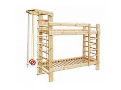 Детская двухъярусная спортивная кровать 80*190