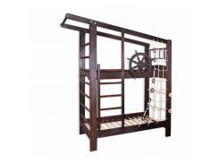 Двухъярусная кровать Капитан в тонировке 70*160