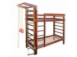 Детская двухъярусная спортивная кровать в цвете 80*190