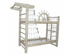 Двухъярусная кровать-спортивный уголок Пират